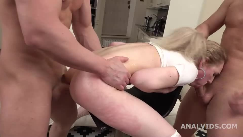 Thats a DAP, isn't it? First time 2 dicks in the ass with Balls Deep Anal, Gapes and Facial (LegalPorno) Screenshot 8