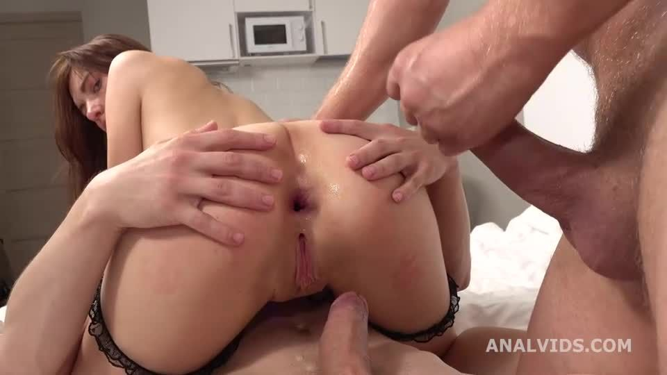 My First DP, Ball Deep Anal, DP, Gapes and Cum in Mouth (LegalPorno) Screenshot 4