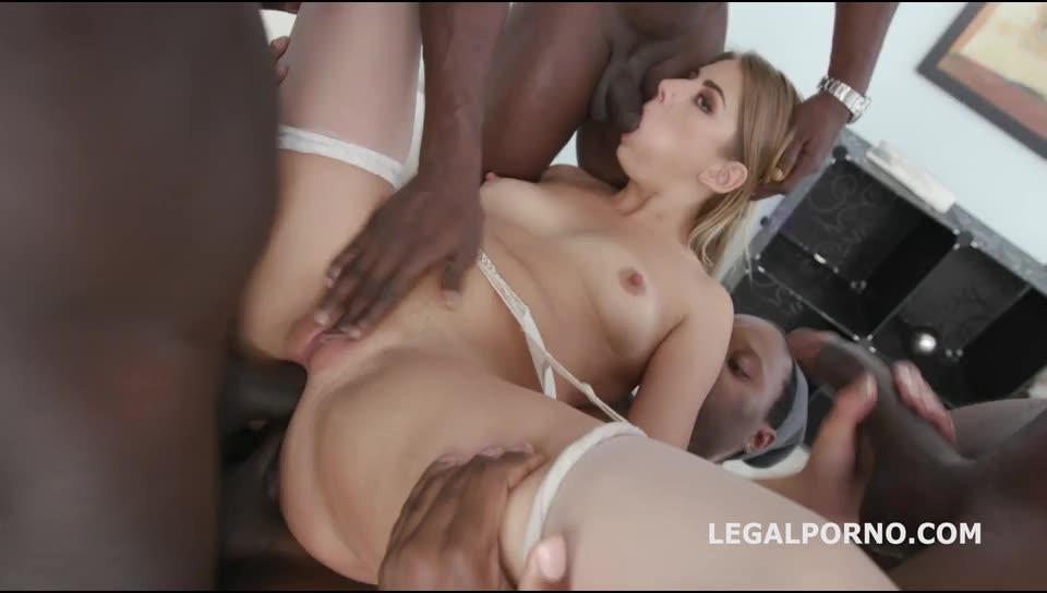 [LegalPorno] Waka Waka, Blacks are Coming! 5BBC with Balls Deep Anal DAP Juicy Gapes Swallow - Julia Red (GangBang)/(High Heels)
