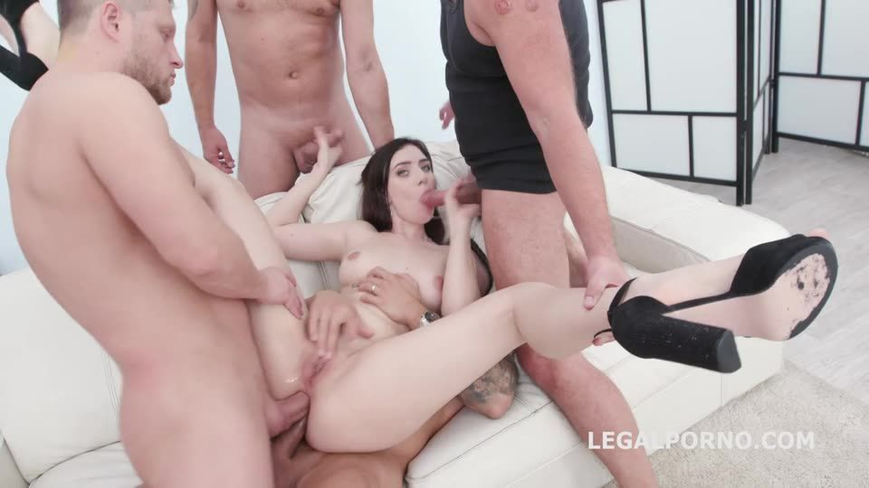 [LegalPorno] DAP Destination, First Time DAP with Balls Deep Anal, Gapes, Swallow - Kira Axe (GangBang)/(Natural Tits)