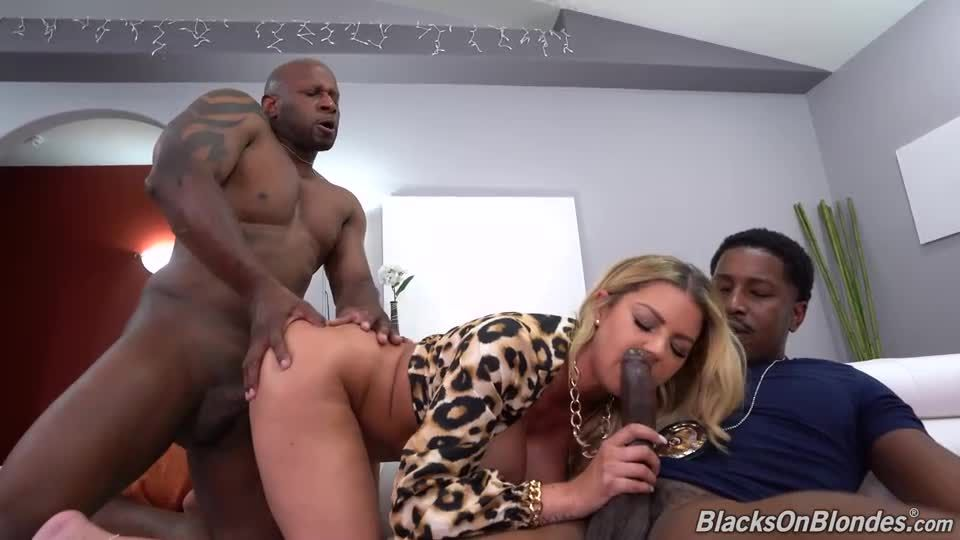 Two Big Black Cock (BlacksOnBlondes / DogFartNetwork) Screenshot 2