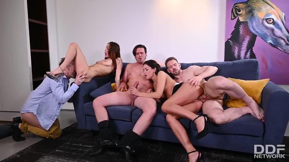 3M2F DP Swingers Orgy With Horny Neighbors (HandsOnHardcore / PornWorld) Screenshot 4