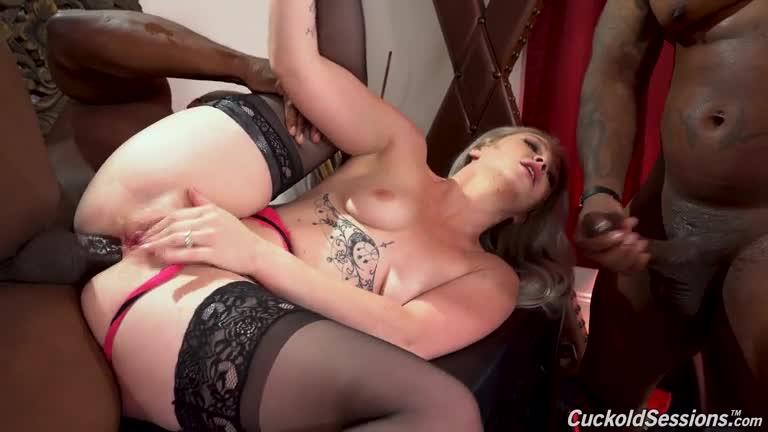 [CuckoldSessions / DogFartNetwork] Two Big Black Cock - Kay Carter (DP)/(Interracial)