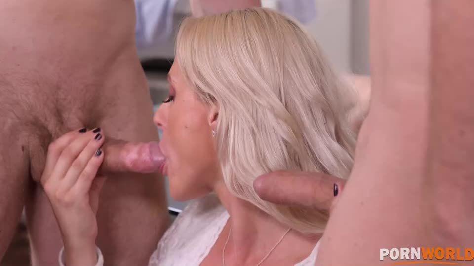 Parent-Teacher Conference Turns to Hot DP Orgy GP2059 (PornWorld) Screenshot 2