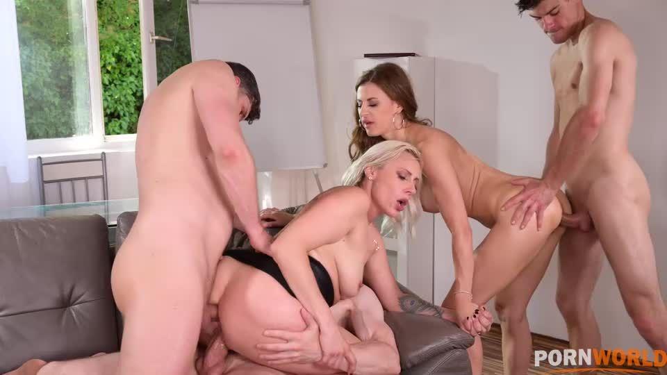 Parent-Teacher Conference Turns to Hot DP Orgy GP2059 (PornWorld) Screenshot 6