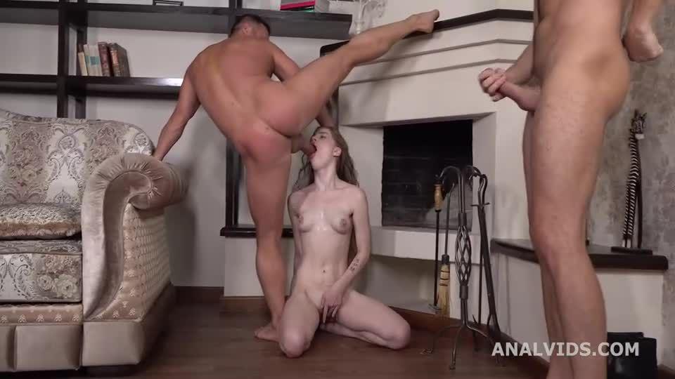 My first DP, Balls Deep Anal, DP, Gapes and Cum in Mouth (LegalPorno) Screenshot 8
