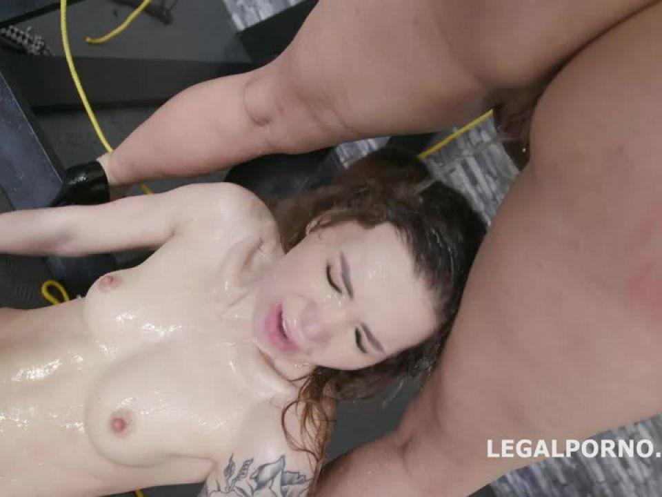 Mistress goes wet, Domination, Squirting, Balls deep Anal, DAP, Pee Drink, Swallow (LegalPorno) Screenshot 3