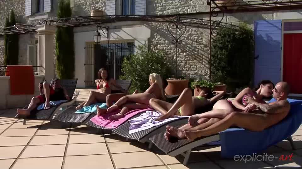 Orgy with 7 girls and boys outdoor (ExpliciteArt) Screenshot 6