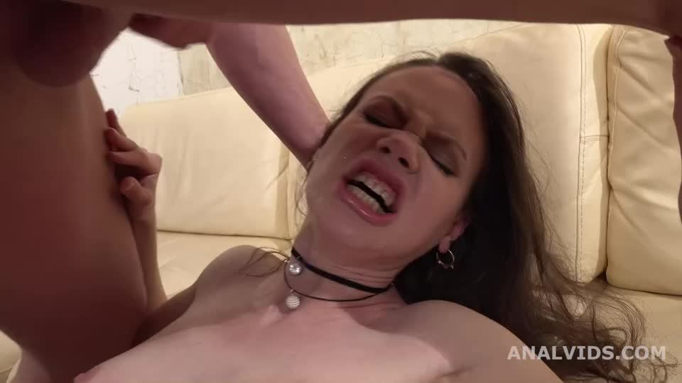My First DP, Balls Deep Anal, DP, Gapes and Facial (LegalPorno) Screenshot 1