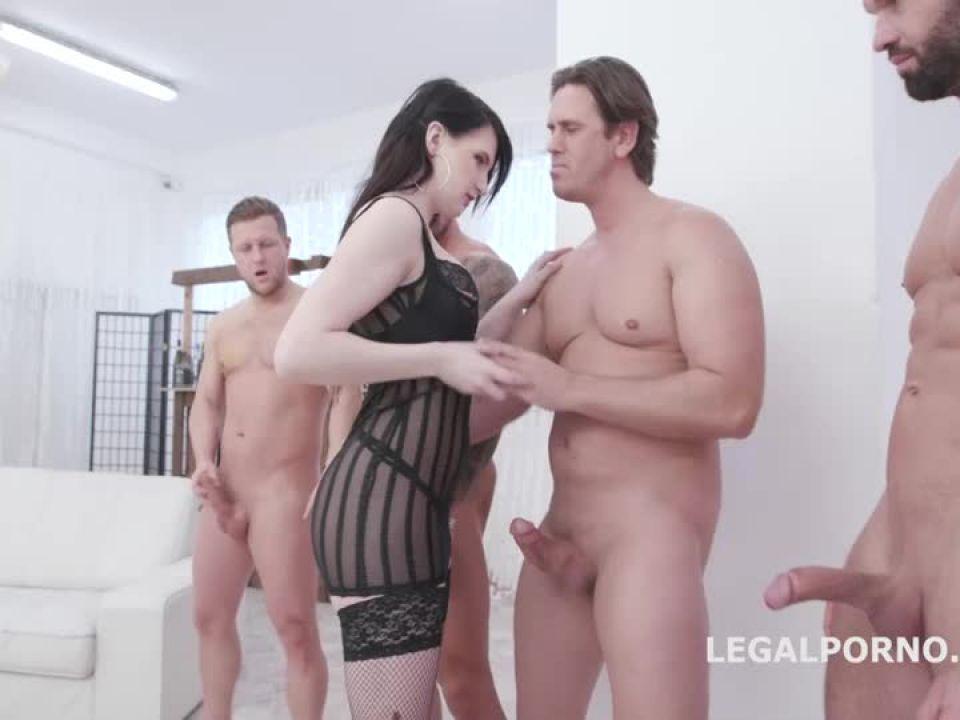 Fucking Wet, Balls Deep Anal, DP, Pee Drink and Facial (LegalPorno) Screenshot 5