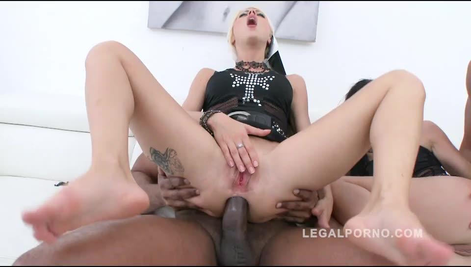 Interracial Double Anal Orgy - LegalPorno] mini orgy with 3 guys: double anal (DAP) & creampie – Amel  Annoga, Chloe Lacourt (DAP)/(Interracial) – Double Penetration Porn Tube