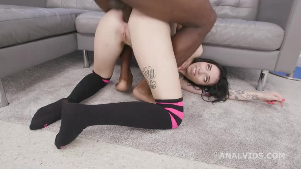 First Time 3BBC with Balls Deep Anal, DAP, Gapes and Creampie (LegalPorno) Screenshot 8