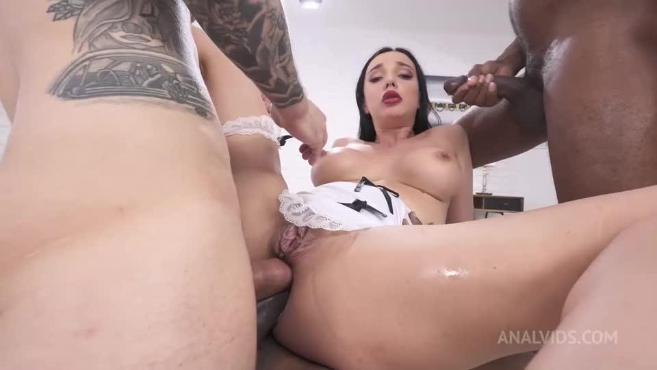 Horny waitress vs 3 big cocks, DAP, bbc interracial, piss and milk, balls deep anal, spit, swallow PAF022 (LegalPorno / AnalVids) Cover Image