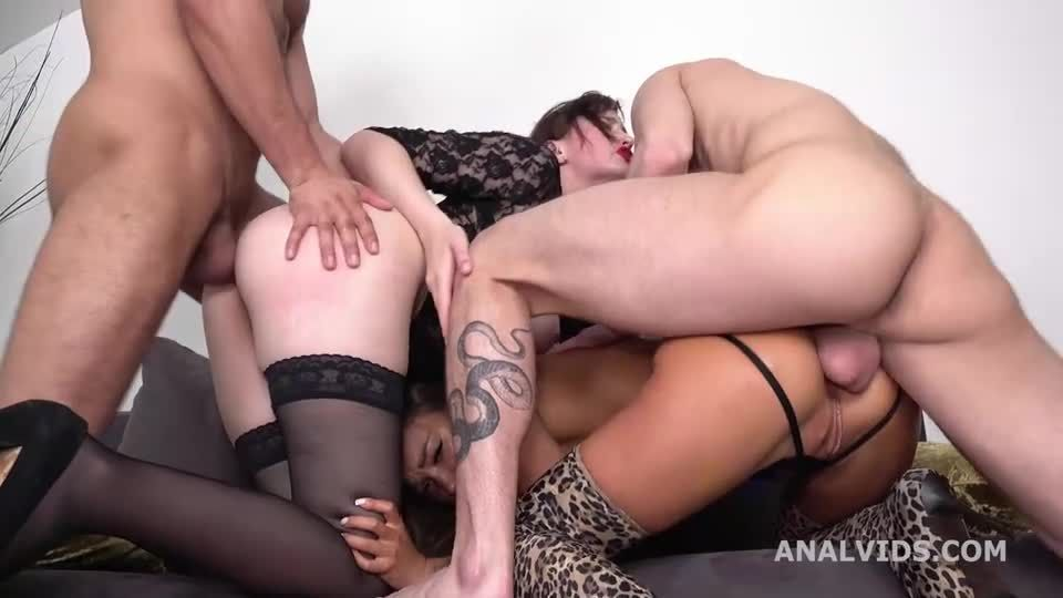 Wet with DAP, gapes, buttrose, pee drink and cum in mouth (LegalPorno / AnalVids) Screenshot 2