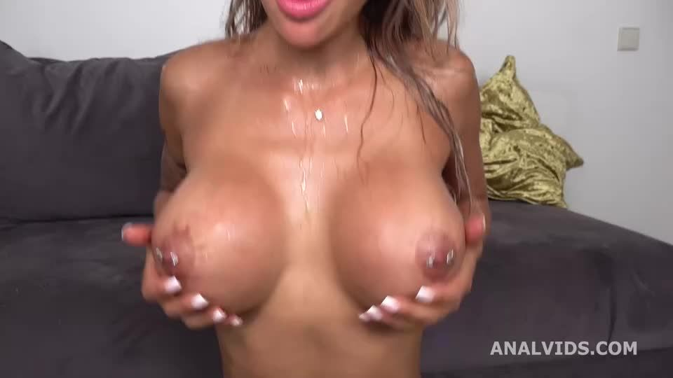 Wet with DAP, gapes, buttrose, pee drink and cum in mouth (LegalPorno / AnalVids) Screenshot 4