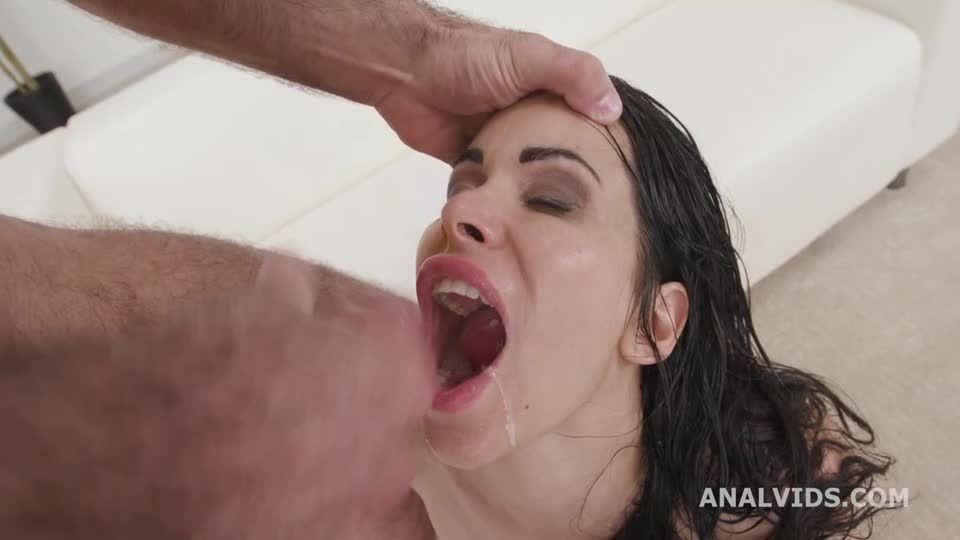 DAP & Squirt, Anal Fisting, DAP, Gapes, Squirt Drink, Creampie Swallow and Cumswallow (LegalPorno / AnalVids) Screenshot 9