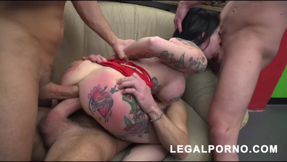 [LegalPorno] First time on LP with nasty deepthroat & balls deep DP S006 - Megan Inky (DP)/(Tattoo)