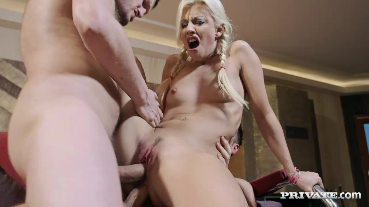 [Private] This French babes hobby is having sex - Jessie Volt (DP)/(Natural Tits)