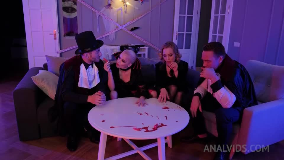 Anally Vampire Halloween party ! DAP (double anal) and DP with three vampires NRX038 (LegalPorno / AnalVids) Screenshot 0