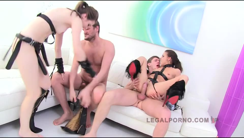 [Legalporno] Anal Gaping Sluts - Timea Bella, Henessy (DP)/(2M2F)