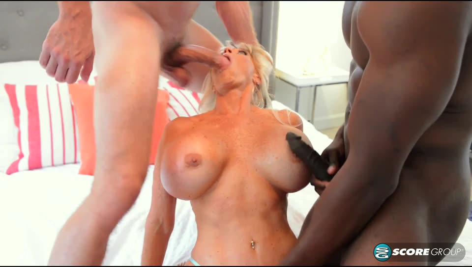 [ScoreHD / PornMegaLoad / 60PlusMilfs] Double the penetration, double the fun for Sally - Sally D`Angelo (DP)/(Interracial)