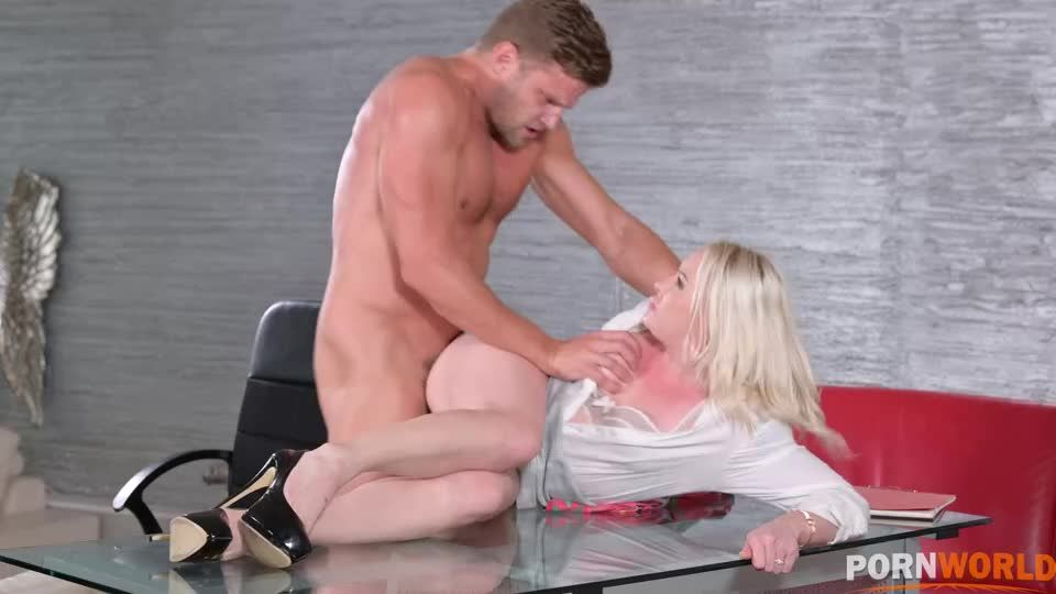 Office DP with Cheating Blonde Secretary and 3 Colleagues GP2053 (PornWorld) Screenshot 2