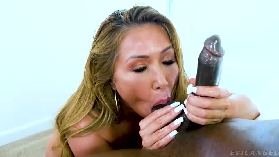 Busty Asian Cum Slut 6 / First Double-Vaginal Fuck (Evil Angel) Screenshot 1