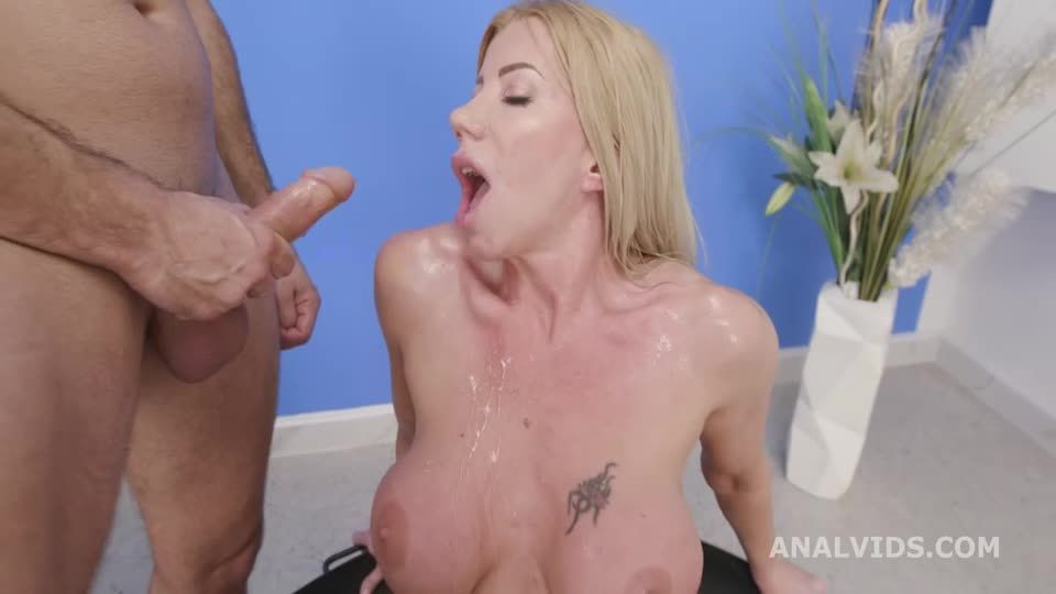 Basined, turns wild with Balls Deep Anal, DAP, Pee Drink and Swallow (LegalPorno / AnalVids) Screenshot 2