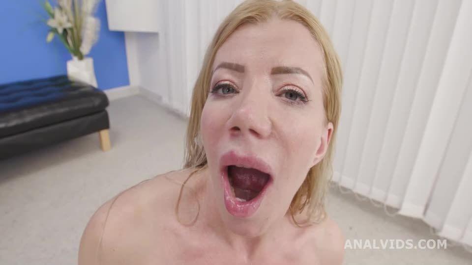 Basined, turns wild with Balls Deep Anal, DAP, Pee Drink and Swallow (LegalPorno / AnalVids) Screenshot 9