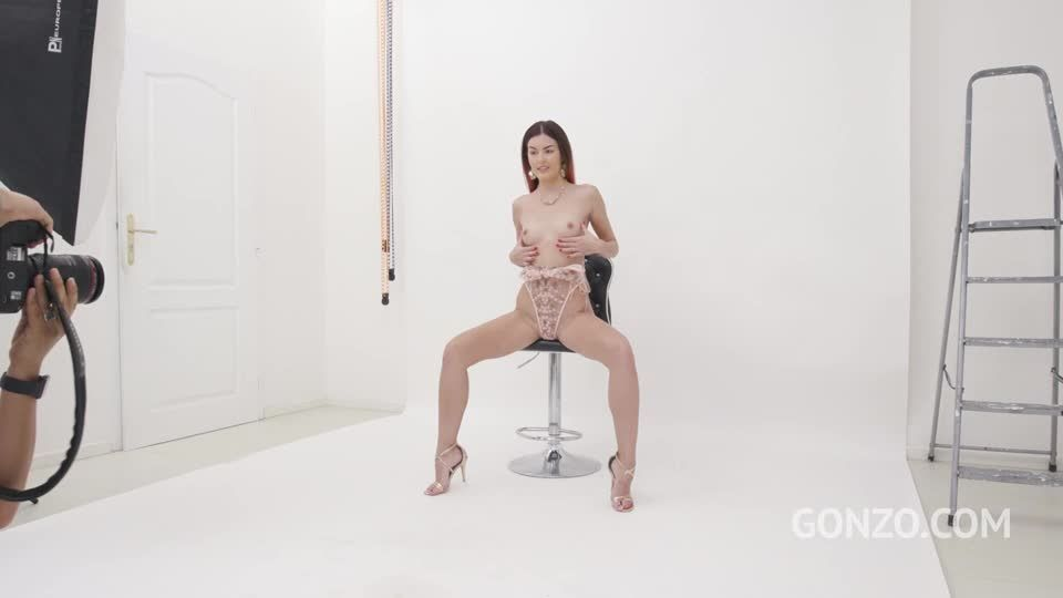Photoshoot with top model turns into hot interracial sex with DAP and Facial (LegalPorno) Screenshot 0