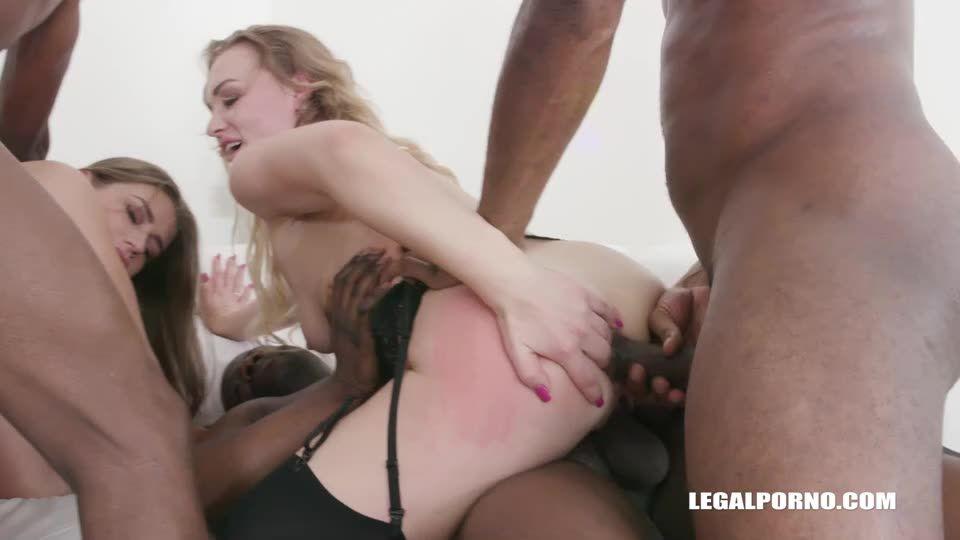 [LegalPorno] Two bitches go crazy for black cocks - Liberta Black, Sarah Sultry (Orgy)/(Blonde)