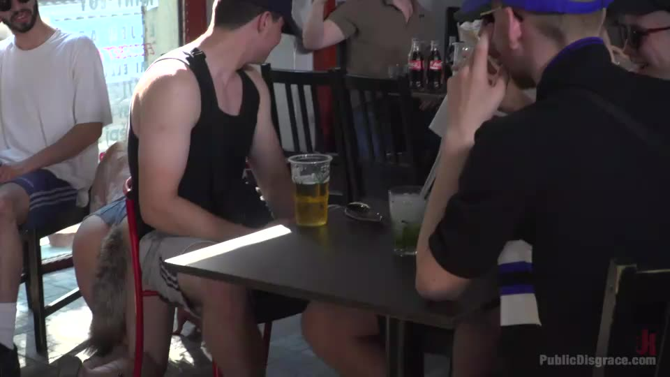 All Natural Busty Brunette Anal Slut First Time DP on Public Disgrace! (PublicDisgrace / Kink) Screenshot 5