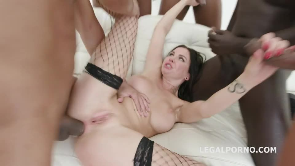 BBC, rough Balls Deep Anal with DAP, Gapes, Facial (LegalPorno) Screenshot 1