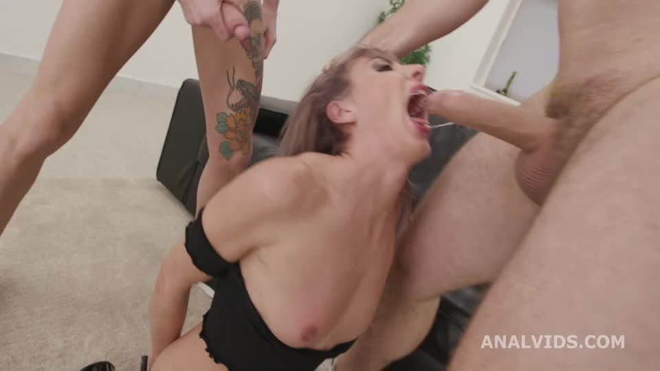My First BurttRose, Balls Deep Anal, DAP, Gapes, Manhandle, Creampie and Swallow (LegalPorno / AnalVids) Screenshot 1