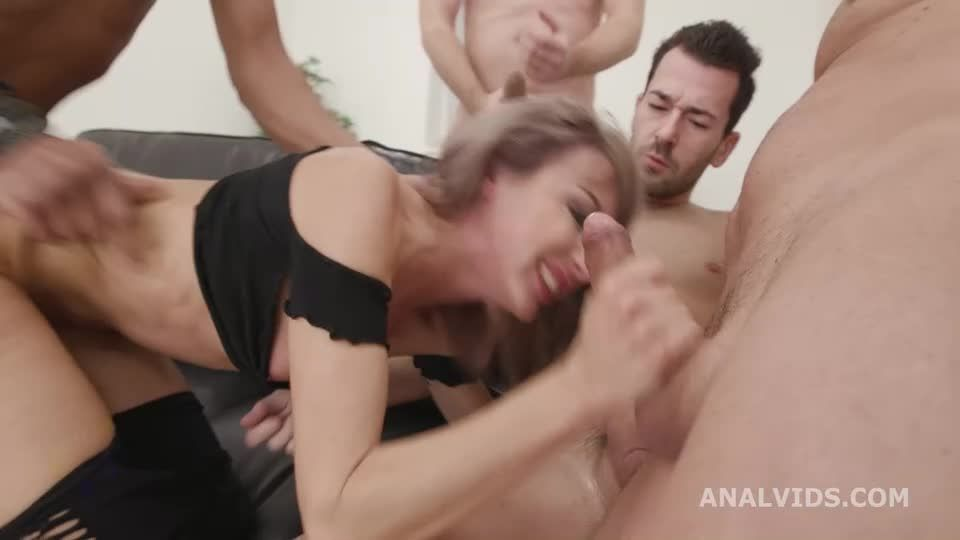 My First BurttRose, Balls Deep Anal, DAP, Gapes, Manhandle, Creampie and Swallow (LegalPorno / AnalVids) Screenshot 2