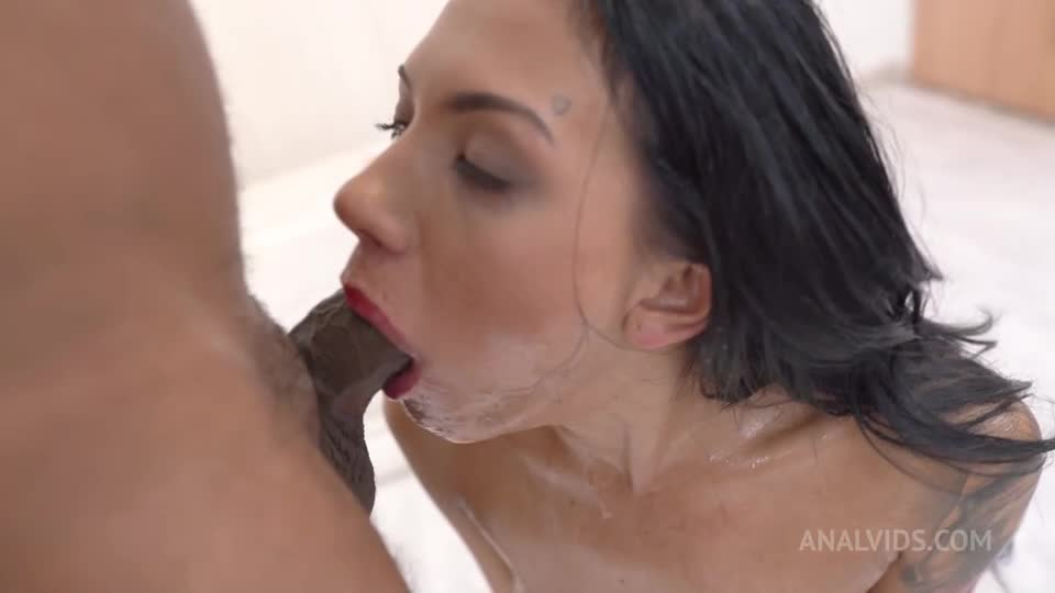 [LegalPorno / AnalVids] Word Premiere First Piss scene. DP rough facefuck deepthroat gapes facial cumshot NF084 - Adelle Sabelle (DP)/(Interracial)