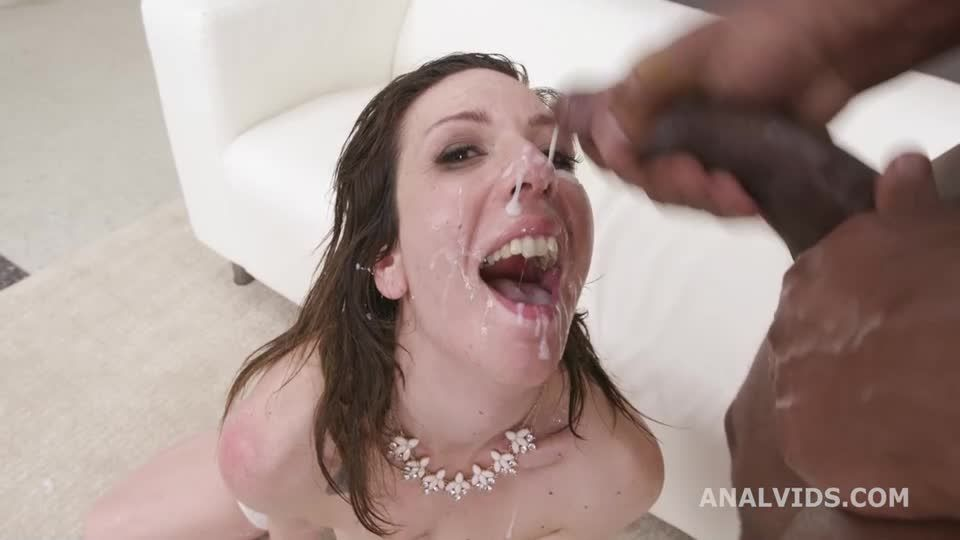 Rough Anal fucking with 3 BBC with DAP, Gapes, Manhandle, Creampie and Facial (LegalPorno / AnalVids) Screenshot 9
