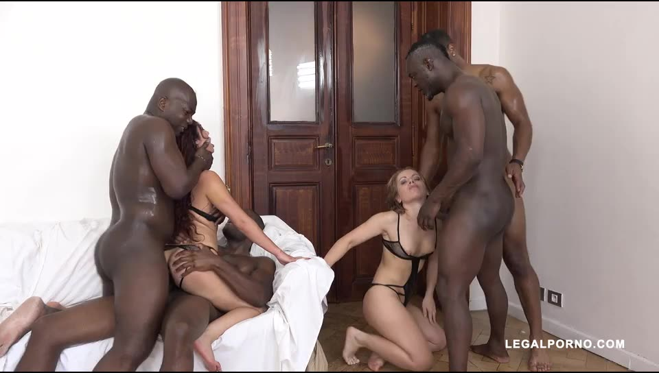 [LegalPorno] Two whores going crazy for big black cock Part 2 - Dana Santo, Sasha Zima (DAP)/(Lingerie)