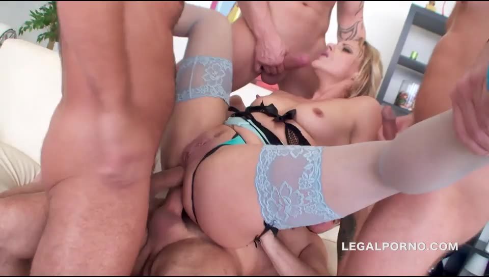 [LegalPorno] Sperma Party 14. Brittany Love swallows 14 cumshots after lots of DP, DAP, ATM, gapes/prolapse, anal fisting - Brittany Love (DAP)/(Blonde)