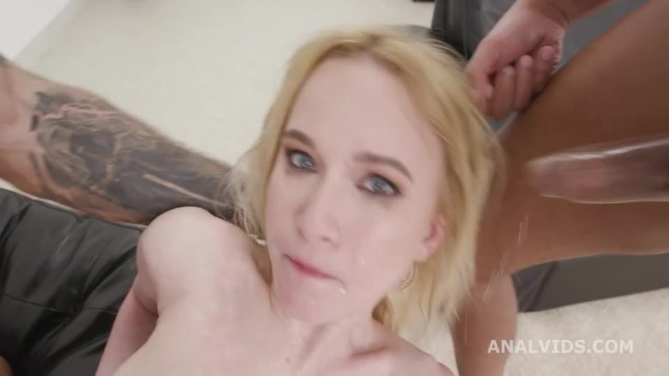 DP goes Wet, Balls Deep Anal, DP, Gapes, Pee Drink and Swallow (LegalPorno / AnalVids) Screenshot 5
