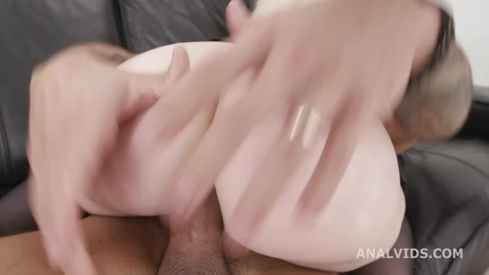 DP goes Wet, Balls Deep Anal, DP, Gapes, Pee Drink and Swallow (LegalPorno / AnalVids) Screenshot 6