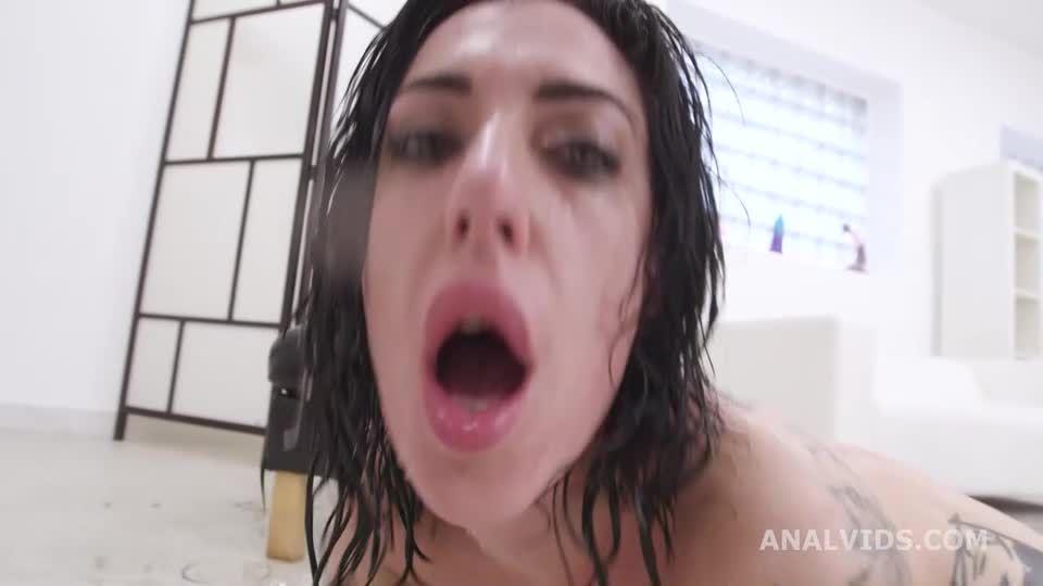 Drunk on Cock, Wet. Balls Deep Anal, DAP, DP, Pee Drink, Manhandle and Swallow (LegalPorno / AnalVids) Screenshot 6
