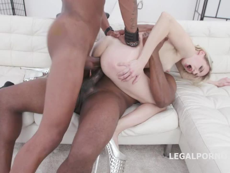 First time interracial 2 BBC DP, Gapes, ATM Creampie and Swallow (LegalPorno) Screenshot 1