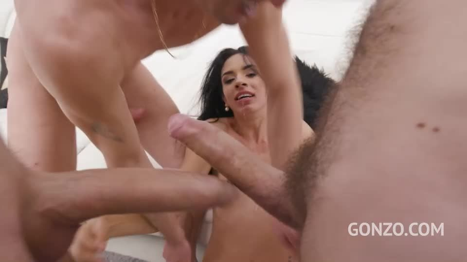 Hot latina first time to Gonzo with Hardcore DP and creampie ending (LegalPorno / AnalVids) Screenshot 3