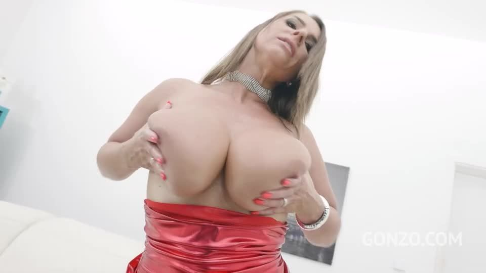 Busty milf no holes barred fuck session with DP, DAP, DVP (Piss drinking edition) (LegalPorno / AnalVids / Gonzo) Screenshot 0