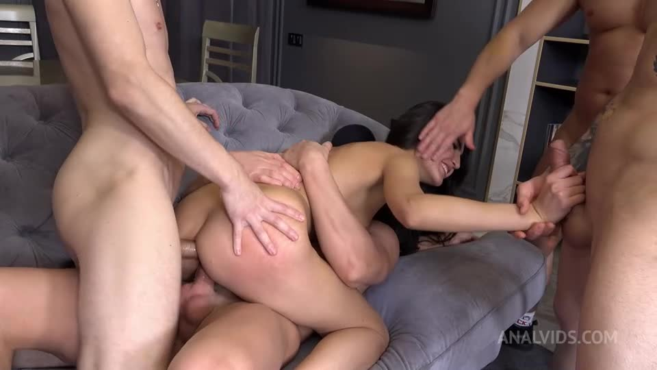 [LegalPorno / AnalVids] First and very hard Double Anal Penetration for oriental beauty! Balls Deep Anal, DP, DAP NRX073 - Parish (DAP)/(Brunette)