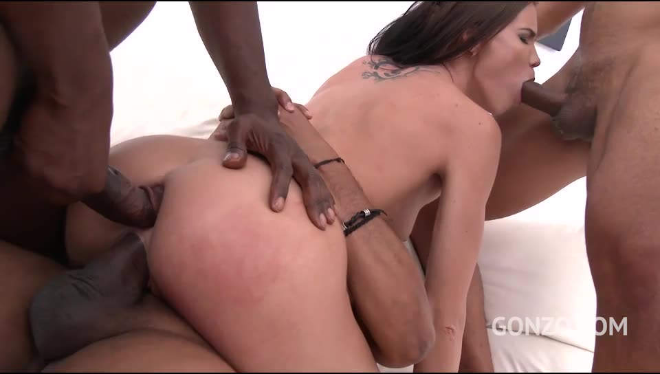 [LegalPorno] Back to Gonzo with anal fucking & DP - Lovenia Lux (GangBang)/(Brunette)