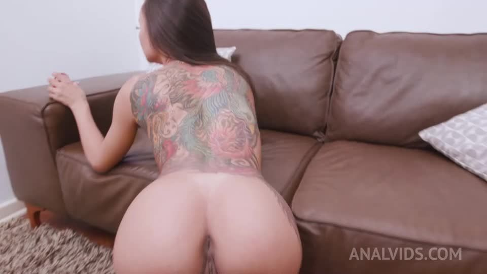 assfucked and DP'ed in threesome with 2 BBC YE020 (LegalPorno / AnalVids) Screenshot 1