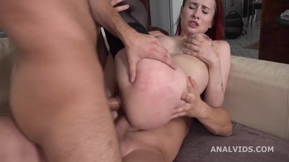 My first DP, first time DP with Balls Deep Anal, Gapes and Cum in Mouth (LegalPorno) Screenshot 4