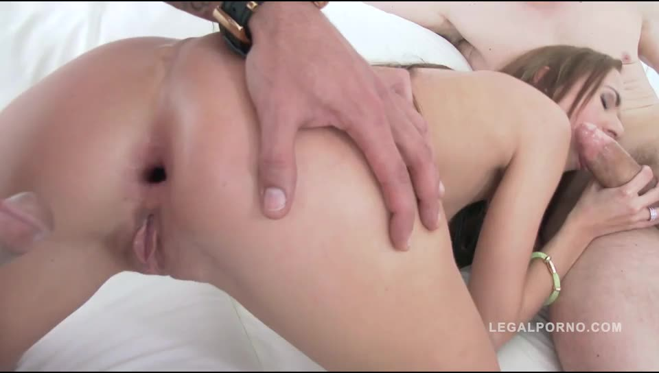 [LegalPorno] DP'ed for the very first time - Paris Devine (DP)/(Natural Tits)